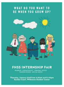 FHSS Internship Fair flier