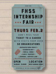 FHSS Internship Flyer