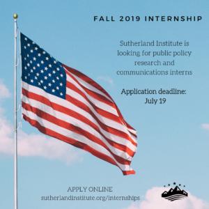 Sutherland Institute Internship 2019