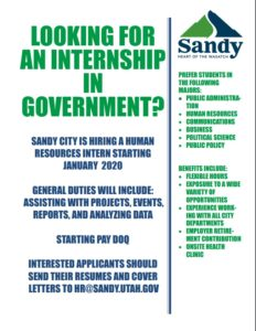 Government Internships Flyer