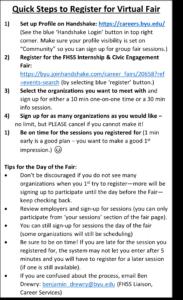 Step-by-step Virtual Fair Instructions